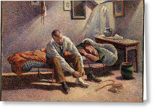 Morning, Interior Greeting Card by Maximilien Luce