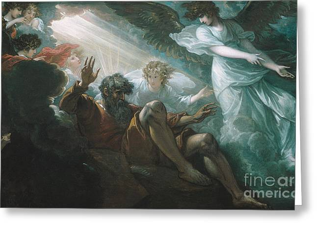 Promised Land Greeting Cards - Moses Shown the Promised Land Greeting Card by Celestial Images