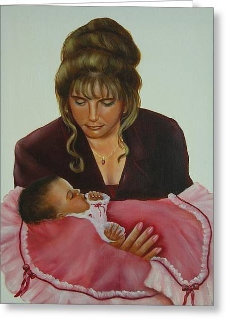 Mother And Child Greeting Card by Joni McPherson