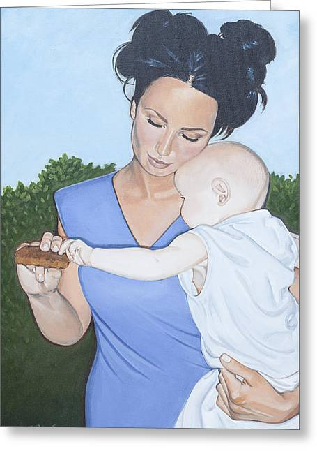 Caring Mother Greeting Cards - Mother and Child Greeting Card by Kathleen Hurley