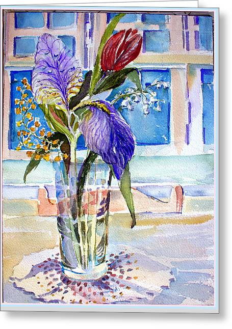 Glass Table Reflection Greeting Cards - Mothers Day Greeting Card by Mindy Newman