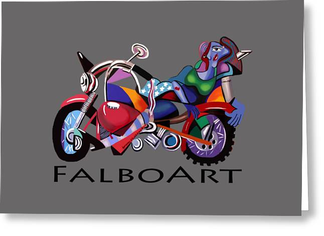 Biker Greeting Cards - Motorcycle Mama Greeting Card by Anthony Falbo