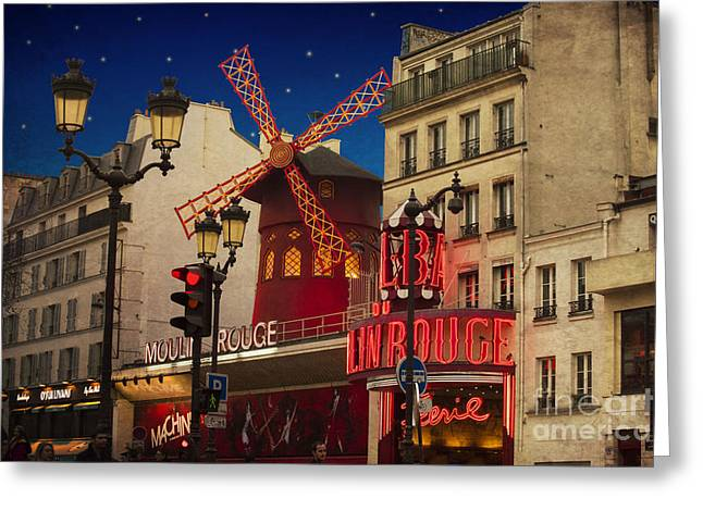 Attractions Greeting Cards - Moulin Rouge Greeting Card by Juli Scalzi