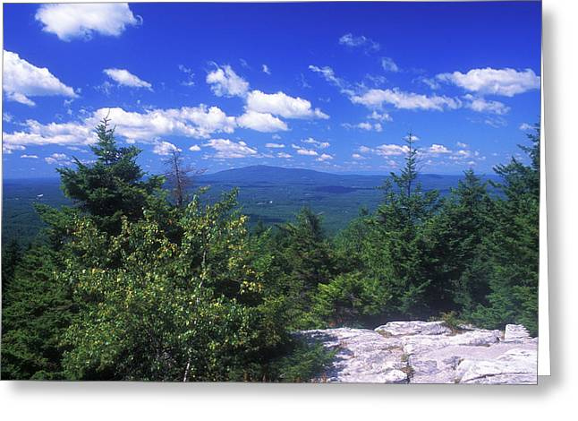 Mount Monadnock from Pack Monadnock Greeting Card by John Burk