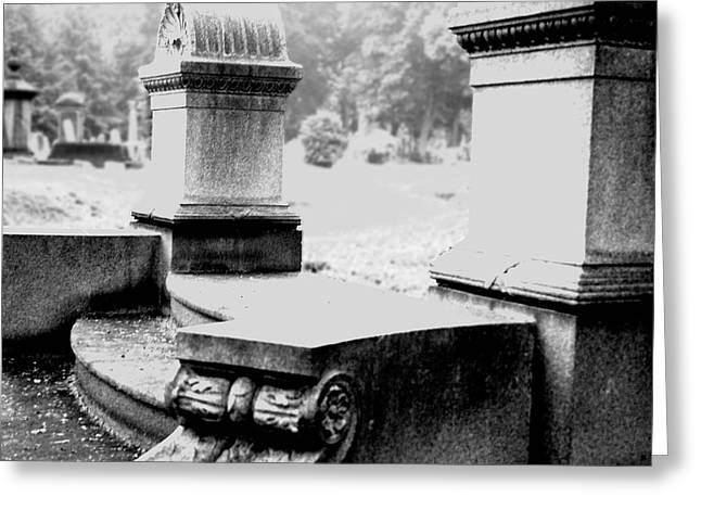 Mount Pleasant Cemetary Belleville New Jersey Greeting Card by Kelly Johnson
