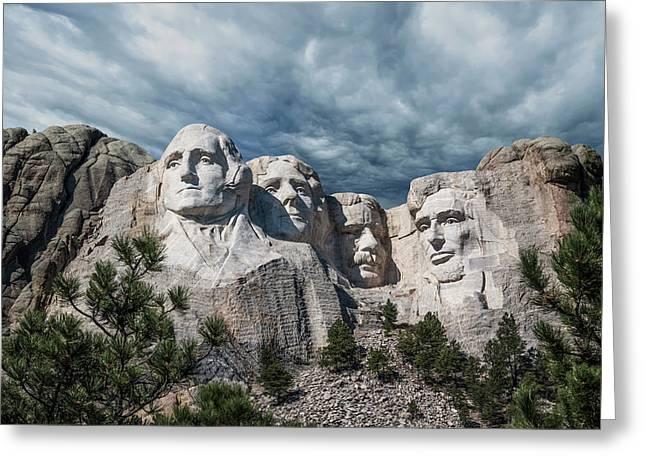 Mount Rushmore II Greeting Card by Tom Mc Nemar