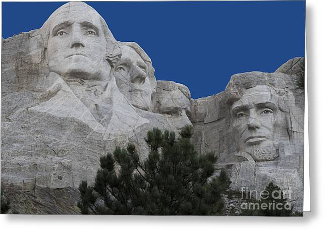 Mount Rushmore Greeting Card by Juli Scalzi