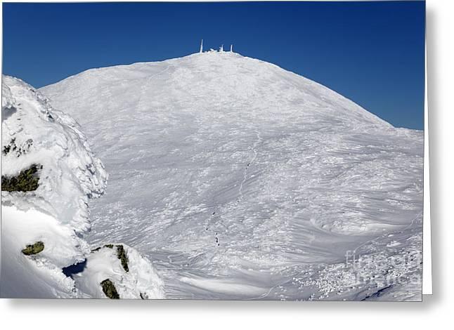 Mount Washington - White Mountain New Hampshire Usa Winter Greeting Card by Erin Paul Donovan