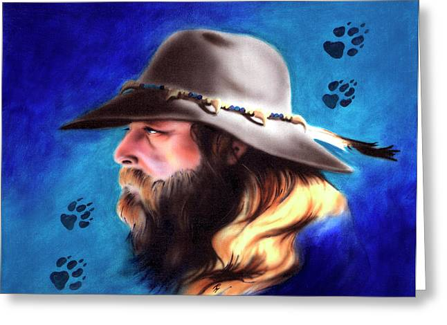 Trappers Greeting Cards - Mountain Man Greeting Card by Robert Martinez