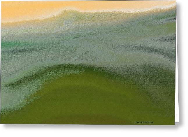 Abstractions Greeting Cards - Mountain Scene 2 Greeting Card by Lenore Senior