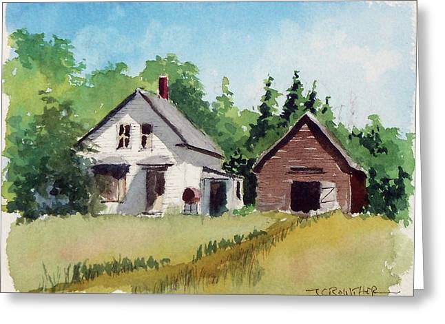 Maine Farmhouse Greeting Cards - Moved to the City Greeting Card by John Crowther