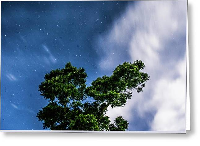 Movement In The Skies Greeting Card by Shelby Young
