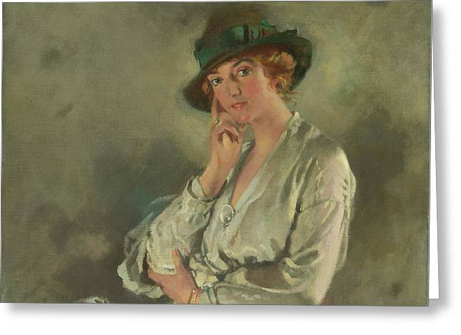 Mrs. Charles S. Carstairs Greeting Card by Sir William Orpen