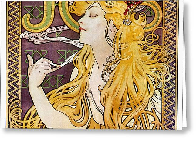 MUCHA: CIGARETTE PAPERS Greeting Card by Granger