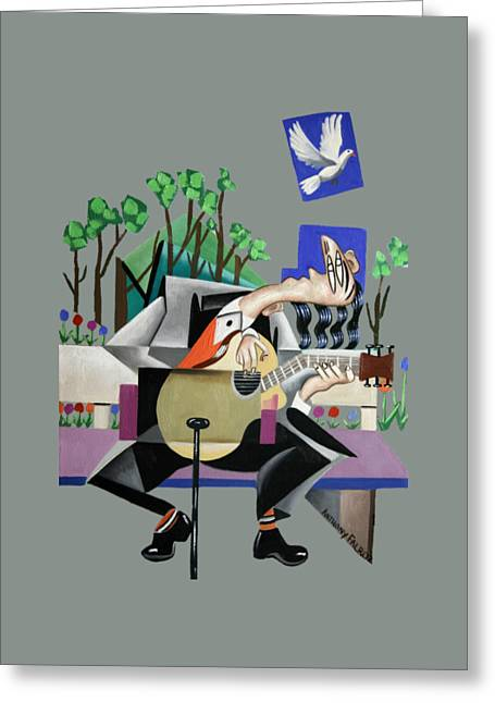 Famous Artist Greeting Cards - Music A Gift From The Holy Spirit Greeting Card by Anthony Falbo
