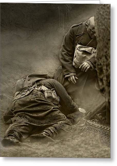 Ww1 Greeting Cards - My Brother My Friend I pray For Thee Greeting Card by Mark H Roberts