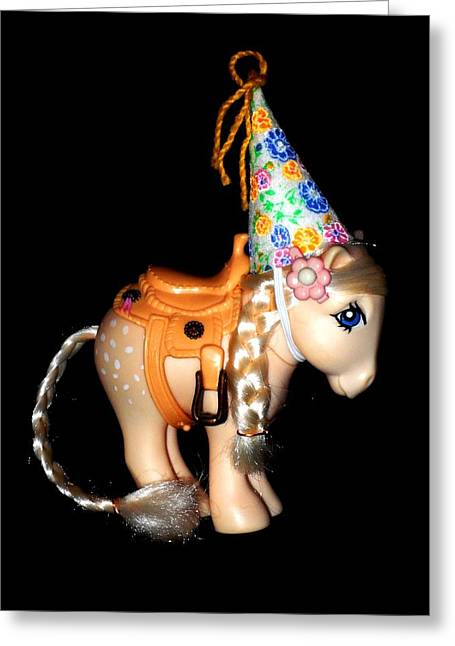 My Little Pony Cotton Candy Palomino Greeting Card by Donatella Muggianu