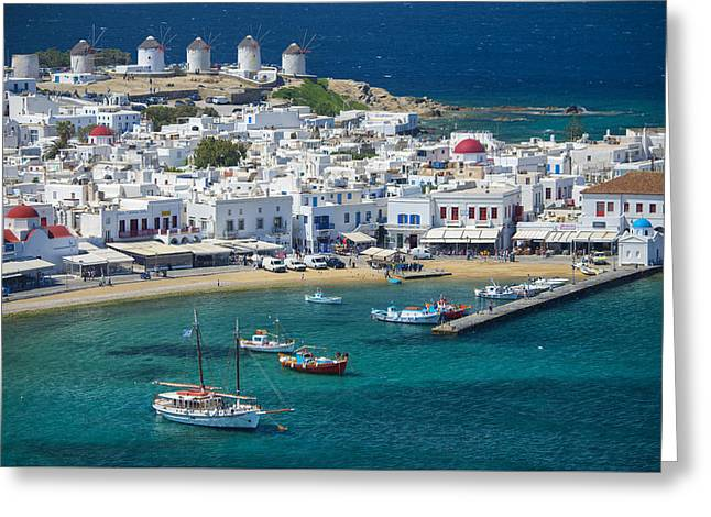 Recently Sold -  - Sea View Greeting Cards - Mykonos Greeting Card by Christian Heeb