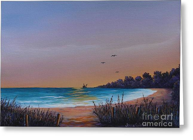 Myrtle Beach Sunset Greeting Card by Jerry Walker