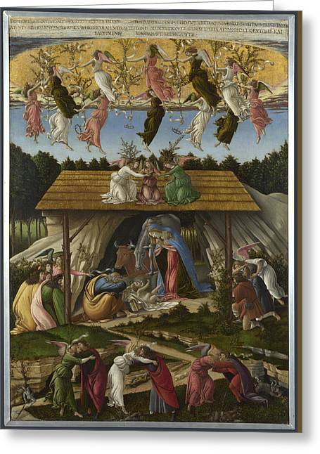 Mystic Nativity Greeting Card by Sandro Botticelli