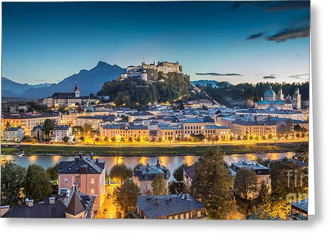 Salzburg Greeting Cards - Mystic Salzburg Greeting Card by JR Photography
