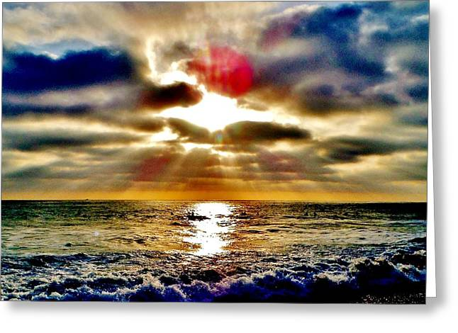 Seashell Picture Photographs Greeting Cards - Mystic Sunset  Greeting Card by Rick Keene