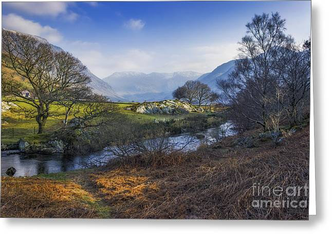 Spring Scenery Greeting Cards - Nant Ffrancon Pass Greeting Card by Ian Mitchell
