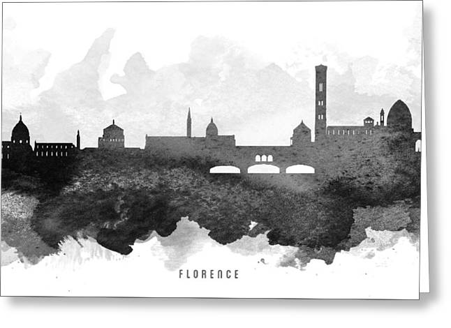 Florence Greeting Cards - Naples Cityscape 11 Greeting Card by Aged Pixel