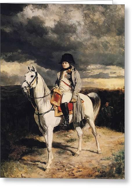 Napoleon Bonaparte Greeting Cards - Napoleon Bonaparte On Horseback Greeting Card by War Is Hell Store
