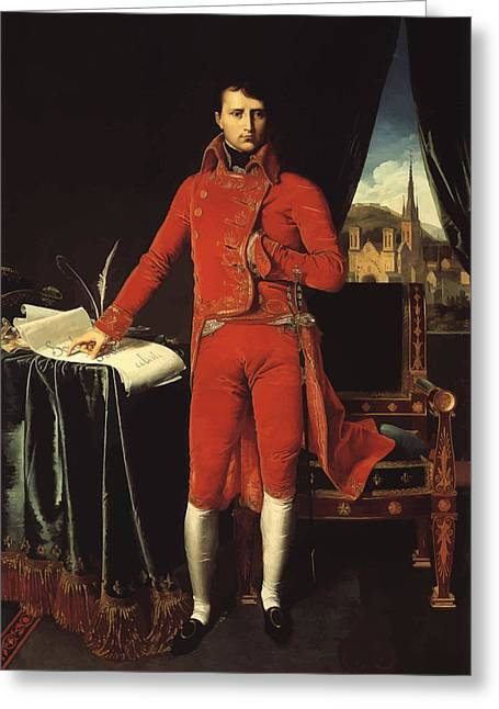 Product Paintings Greeting Cards - Napoleon Bonaparte Greeting Card by War Is Hell Store
