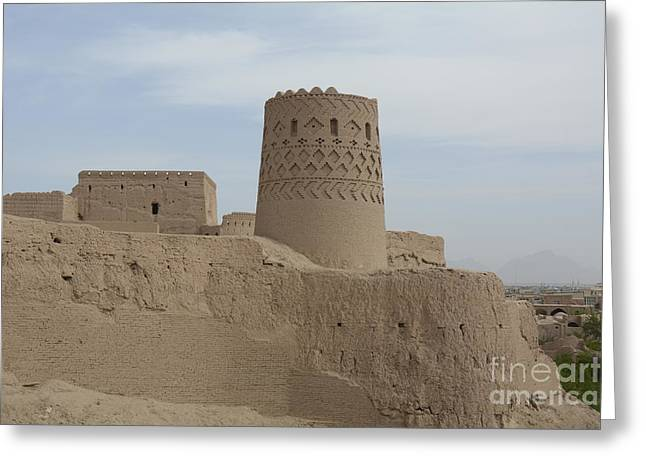 World Destination Photographs Greeting Cards - Narin Qaleh Narin Castle, Iran Greeting Card by Catherine Ursillo