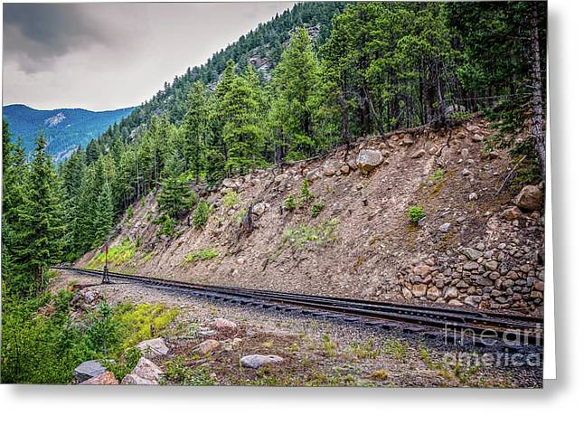 Narrow Gauge Greeting Card by Jon Burch Photography