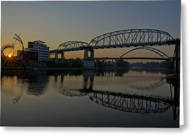 Nashville Tennessee Greeting Cards - Nashville Sunrise Greeting Card by Brian Kamprath