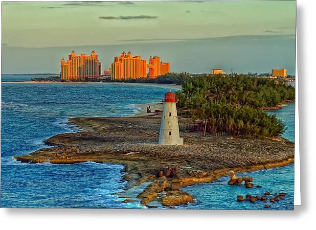 Nassau Greeting Cards - Nassau Lighthouse Greeting Card by Ralph Hausler