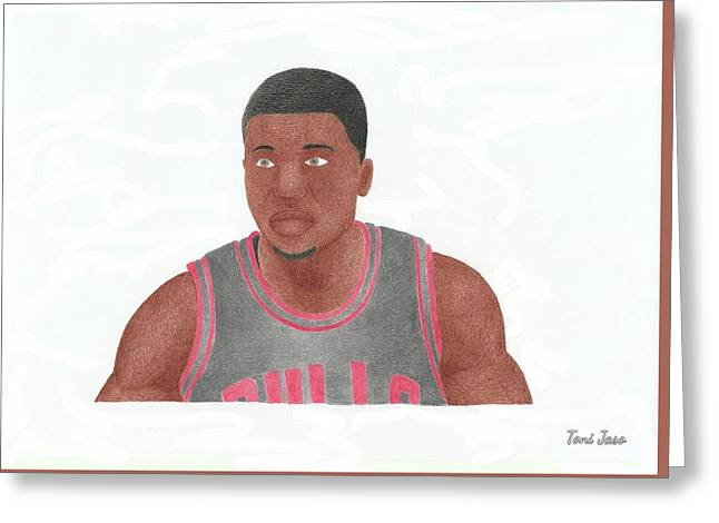 Slam Drawings Greeting Cards - Nate Robinson Greeting Card by Toni Jaso