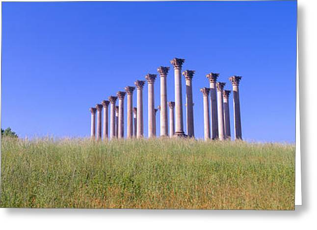 Seat Of Power Greeting Cards - National Capitol Columns, National Greeting Card by Panoramic Images