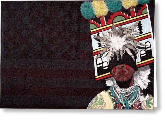 Bernard Goodman Greeting Cards - Native Dancer Greeting Card by Bernard Goodman