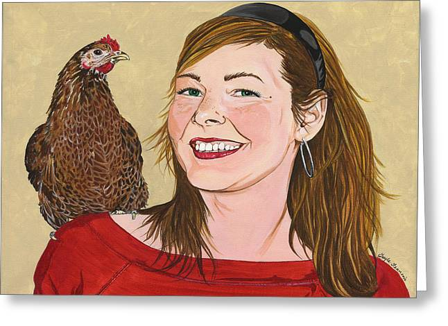 Natty And Me Greeting Card by Twyla Francois