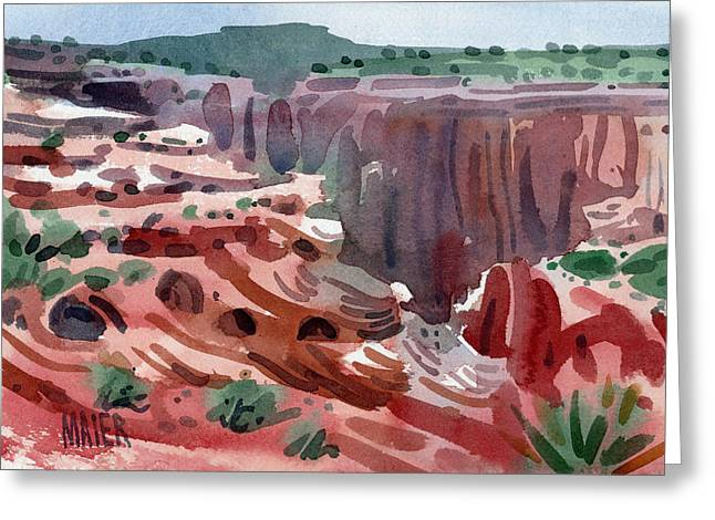Canyons Paintings Greeting Cards - Navajo Spirit Greeting Card by Donald Maier