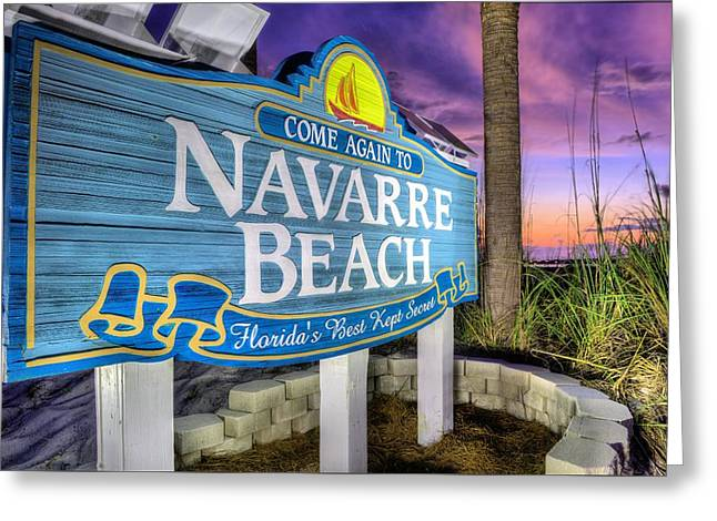 Florida Panhandle Greeting Cards - Navarre Beach Greeting Card by JC Findley
