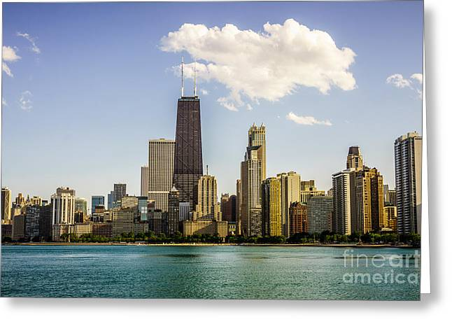Near North Side Chicago Skyline Greeting Card by Paul Velgos
