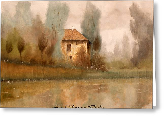 Nebbia Greeting Cards - Nebbiolina Autunnale Greeting Card by Guido Borelli