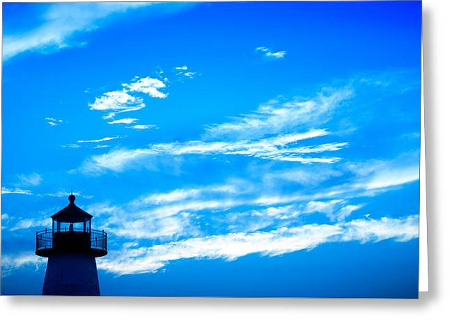 New England Ocean Greeting Cards - Neds Point Lighthouse Greeting Card by Troy DeTerra