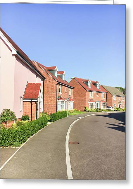New Build Homes Greeting Card by Tom Gowanlock