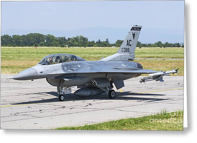 Fighter Star Fighter Greeting Cards - New Jersey Air National Guard F-16c Greeting Card by Daniele Faccioli