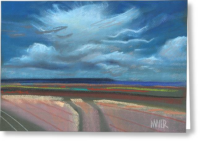 Skies Pastels Greeting Cards - New Mexico Skyscape Greeting Card by Donald Maier