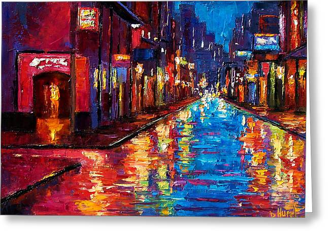 New Orleans Magic Greeting Card by Debra Hurd