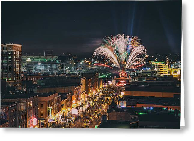 Nashville Tennessee Greeting Cards - New Years Eve in Nashville 2014 Greeting Card by Garrett Hill