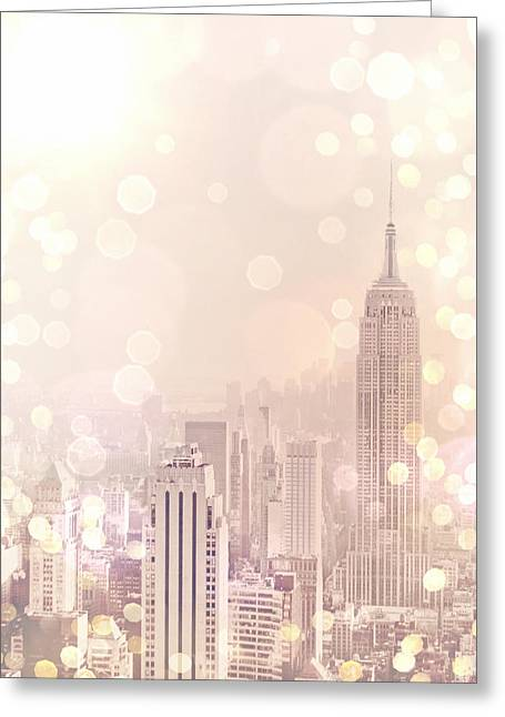Midtown Greeting Cards - New York City - Skyline Dream Greeting Card by Vivienne Gucwa