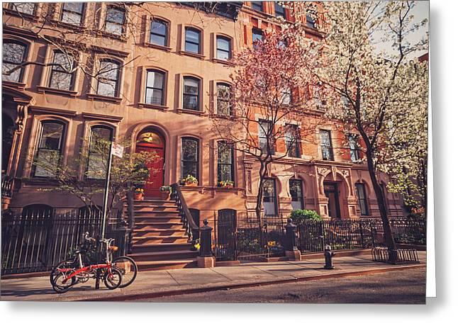 New York City - Springtime - West Village Greeting Card by Vivienne Gucwa